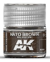 AK Real Colors- NATO Brown RAL8027 F9 Acrylic Lacquer Paint 10ml Bottle
