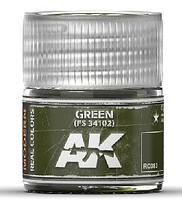 AK Real Colors- Green FS34102 Acrylic Lacquer Paint 10ml Bottle
