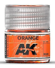 AK Interactive Real Colors- Orange Acrylic Lacquer Paint 10ml Bottle