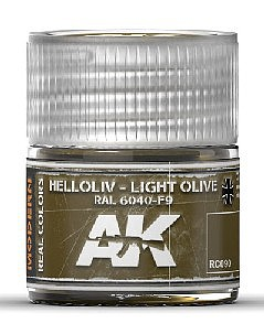 AK Real Colors- Light Olive RAL6040 F9 Acrylic Lacquer Paint 10ml Bottle