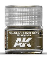 Real Colors- Light Olive RAL6040 F9 Acrylic Lacquer Paint 10ml Bottle