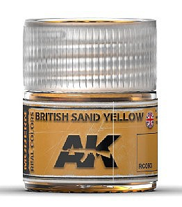 AK Real Colors- British Sand Yellow Acrylic Lacquer Paint 10ml Bottle