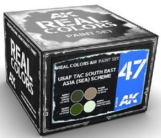 AK Real Colors- USAF TAC South East Asia (SEA) Scheme Acrylic Lacquer Paint Set (4) 10ml Bottles