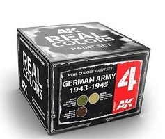 AK Real Colors- German Army 1943-1945 Acrylic Lacquer Paint Set (3) 10ml Bottles
