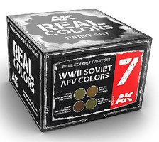 Real Colors- WWII Soviet AFV Acrylic Lacquer Paint Set (4) 10ml Bottles