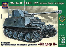 ArkModels 1/35 Marder II SdKfz 132 German Tank Destroyer w/Self-Propelled Gun
