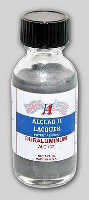 Alclad II 1oz. Bottle Duraluminum Lacquer -- Hobby and Model Lacquer Paint -- #102
