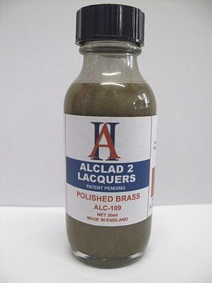 Alclad II 1oz. Bottle Polished Brass Lacquer -- Hobby and Model Lacquer Paint -- #109