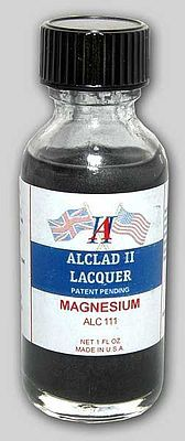 Alclad II 1oz. Bottle Magnesium Lacquer -- Hobby and Model Lacquer Paint -- #111