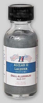 Alclad II 1oz. Bottle Dull Aluminum Lacquer -- Hobby and Model Lacquer Paint -- #117