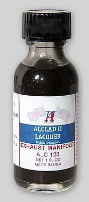Alclad II 1oz. Bottle Exhaust Manifold Lacquer -- Hobby and Model Lacquer Paint -- #123
