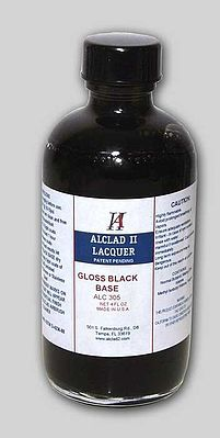 Alclad 4oz. Bottle Gloss Black Base Hobby and Model Enamel Paint #305