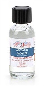 Alclad II 1oz. Bottle Transparent Medium Lacquer -- Hobby and Model Lacquer Paint -- #400