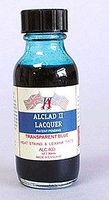 1oz. Bottle Transparent Blue Lacquer Hobby and Model Lacquer Paint #403