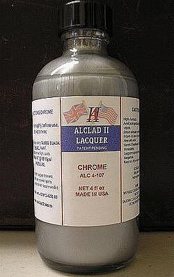 Alclad 4oz. Bottle Aluminum Lacquer Hobby and Model Lacquer Paint #4101