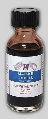 Alclad 1oz. Bottle Transparent Hot Metal Sepia Lacquer Hobby and Model Lacquer Paint #416