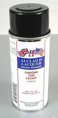 Alclad II 3oz. Spray Chrome Lacquer for Lexan -- Hobby and Model Lacquer Paint -- #5114