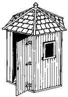 Alexander Telephone Shelters - Wooden HO Scale Model Railroad Trackside Structure #3114