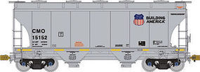 3281 Cu.Ft. 2-Bay Covered Hopper Union Pacific HO Scale Model Train Freight Car #1003