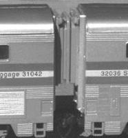 American-Limited Con-Cor Superliners Oper. Diaphragm (1 set) HO Scale Model Train Passenger Car Part #9400