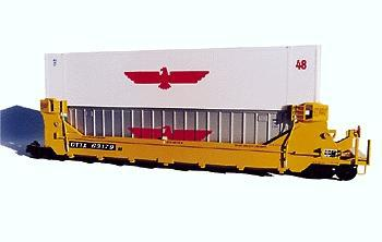 A Line Product 48' Smooth-Side Containers - Undecorated -- HO Scale Model Railroad Freight Car -- #25300