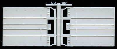 A Line Product Rear Trailer Doors - Swing (Plate Trailer) -- HO Scale Model Railroad Vehicle -- #50007