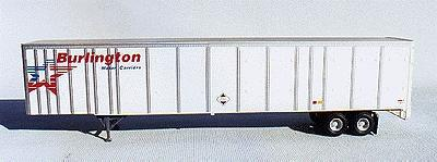 A-Line 53 Plate Trailer - Painted White w/Silver Ribs HO Scale Model Railroad Vehicle #50502