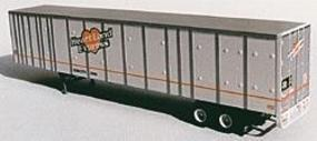 A-Line 53 Plate Trailer - Painted White w/Silver Ribs HO Scale Model Railroad Vehicle #50505