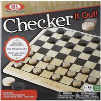Ideal- Checker It Out Classic Board Game (Wooden)