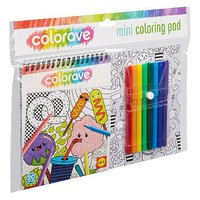 Alex Alex- Colorave Mini Coloring Pad w/Markers