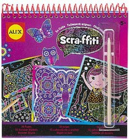 Alex Alex- Scra-ffiti So Cute Scratch Design Book Set #1