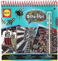 Alex Alex- Scra-ffiti So Cool Scratch Design Book Set #2