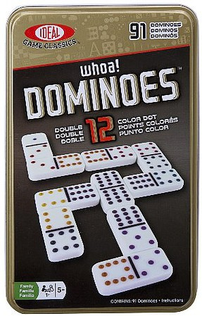 Alex Ideal- Double 12 Dominoes Basic Game in Tin