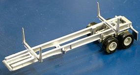 Alloy-Forms 30 Open Frame Logging Trailer with Spoke Wheels HO Scale Model Railroad Vehicle #3029