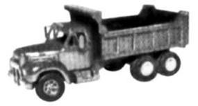 Alloy-Forms Mack B61 Tractor - 3-Axle Dump Truck w/12 Heil Dump Bed HO Scale Model Railroad Vehicle #3034