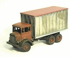 Alloy-Forms Mack CJ Circus Tent (Canvas) Truck HO Scale Model Railroad Vehicle #7077