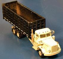 Alloy-Forms Constructor Truck w/Open Roll-Off Trash Compactor Body HO Scale Model Railroad Vehicle #7088