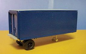 Alloy-Forms 24 Riveted-Side Van Trailer w/Spoke Wheels HO Scale Model Railroad Vehicle #7095