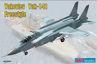 ArtModelKits Yakovlev YaK141 Freestyle Soviet Fighter Plastic Model Airplane Kit 1/72 Scale #7205