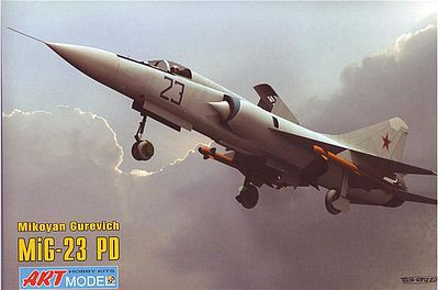 ArtModelKits Mikoyan MiG23PD 1st Prototype Soviet Aircraft Plastic Model Airplane Kit 1/72 Scale #7208