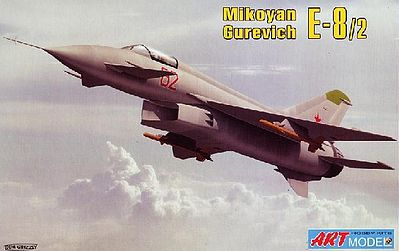 ArtModelKits Mikoyan E8/2 Experimental Fighter Plastic Model Airplane Kit 1/72 Scale #7209