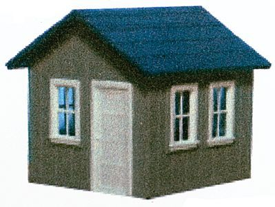 AM Models Small Yard Office - Kit -- HO Scale Model Railroad Trackside Accessory -- #127