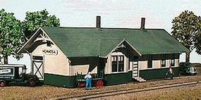American-Models Union Pacific Standard 24 x 64' Depot HO Scale Model Railroad Building #127