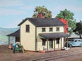American-Models Two-Story Section House Kit HO Scale Model Railroad Building #128