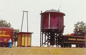 American-Models Pump House (For Water Tanks, sold separately) Kit HO Scale Model Railroad Building #158