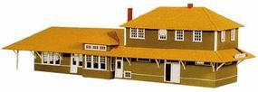 American-Models Alaska Railroad Depot at Nenana Kit HO Scale Model Railroad Building #159