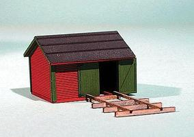 American-Models Chicago, Burlington & Northern Standard Tool Houses Kit HO Scale Model Railroad Building #163