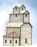 American-Models Alton Country Grain Elevator Kit HO Scale Model Railroad Building #166