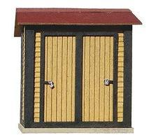 American-Models ATSF Standard Double Door Stall Yard Closets (2) Kit HO Scale Model Railroad Building #168