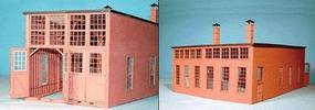 American-Models Roundhouse (Laser-Cut Wood Kit) - 2-Stall HO Scale Model Railroad Building #170